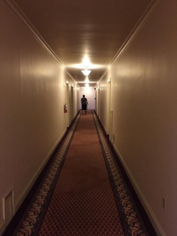 Arline in hallway