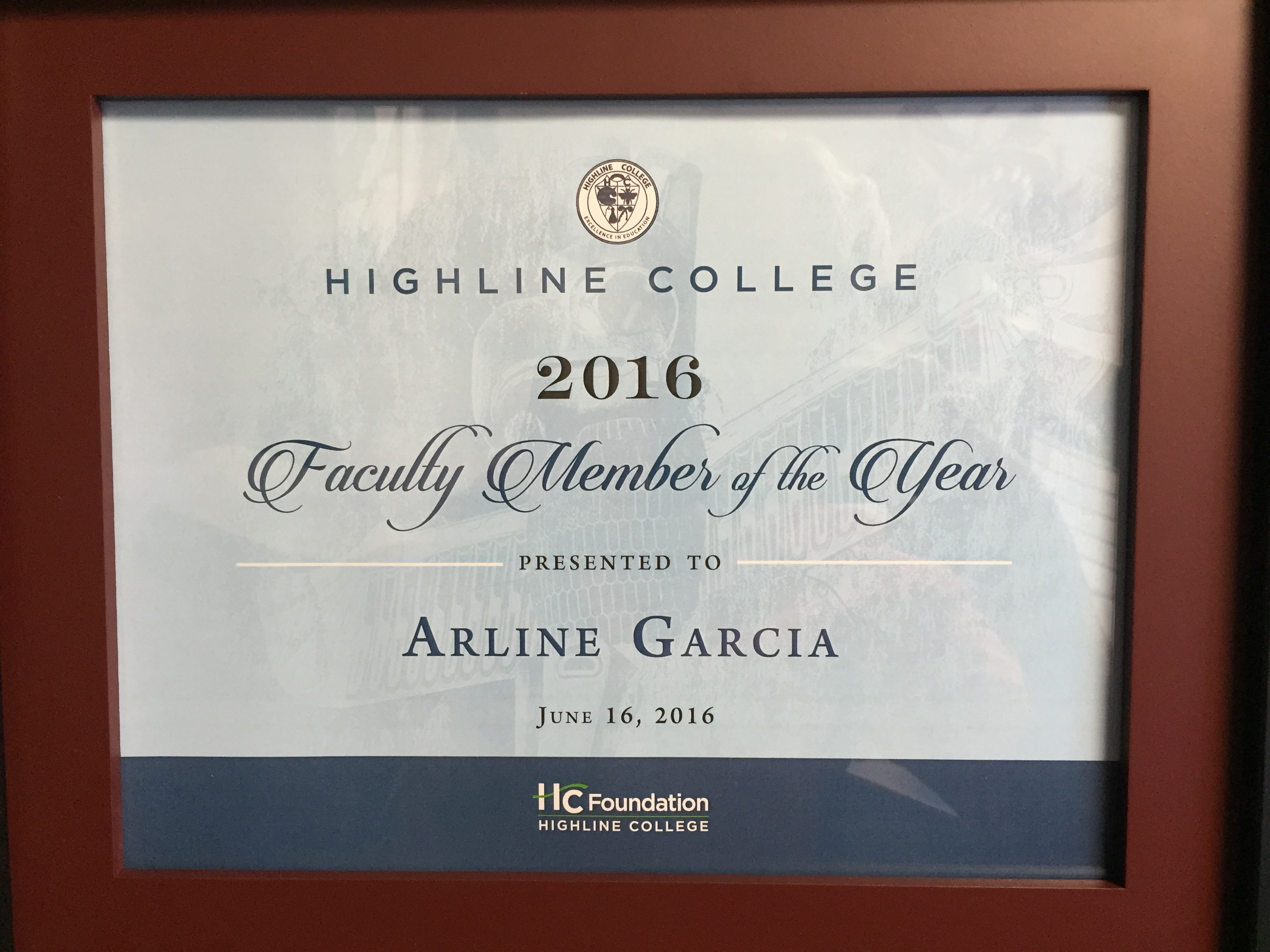 Arline Garcia: Faculty Member of the Year