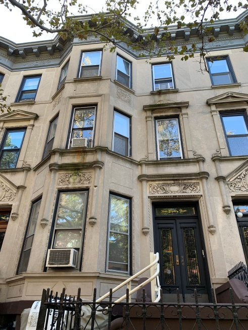 The brownstone building that houses the Lesbian Herstory Archives in Brooklyn